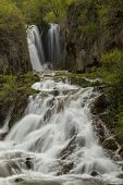 pic of spearfishing  - A waterfall in the Black Hills of South Dakota - JPG