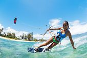 Kite Boarding, divertido no oceano, esporte radical
