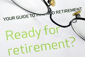 Focus on the investment in the retirement plan concept of finance and retirement