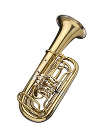 stock photo of wind instrument  - Tuba wind instrument on a white background - JPG