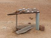 Selling Salt At The Atlantic Coast, Namibia