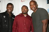 Marlon D. Haynes, Kenny Horn and Lazrael Lison at the