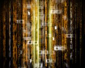 Digital Abstract Background With Binary Code