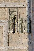 City Hall Lock And Door Pull In Mons, Belgium.