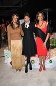 Timolin Cole, Natalie Cole and Casey Cole  at the Capitol Records' Rooftop Christmas Tree  Lighting,