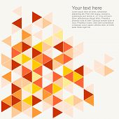 Pastel colorful background illustration. Grey, orange, pink, brown and red triangle geometric mosaic