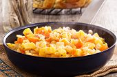Apple and root vegetable hash