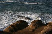 Waves on Rocky Oregon Coast USA