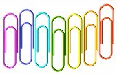 Colored Paperclips Wave