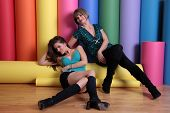 Alicia Arden and Rena Riffel at a promotional photo shoot for the Leica S2 Medium Format 37 MP Digital Camera Debut, Samys Camera, Los Angeles, CA. 01-15-10