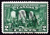 Postage Stamp Canada 1927 The Fathers Of Confederation