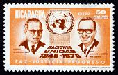 Postage Stamp Nicaragua 1972 U Thant, Anastasio Somoza