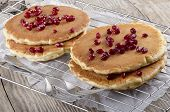 Home Made Pancake With Pomegranate Seed