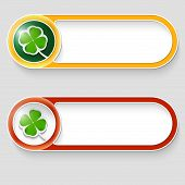 Two Vector Abstract Buttons With Cloverleaf