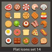 vector flat icon-set 14