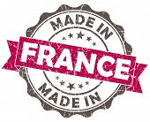 Made In France Pink Grunge Seal