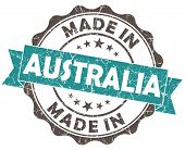 Made In Australia Blue Grunge Seal