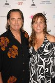 Beau Bridges and wife Wendy  at the Academy of Television Arts and Sciences Prime Time Emmy Nominees Party. Wolfgang Puck Pacific Design Center, West Hollywood, CA. 09-17-09