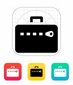 Zipper case icon.
