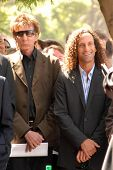 Barry Manilow and Kenny G at the ceremony honoring Dave Koz with a star on the Hollywood Walk of Fam