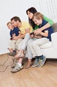 Young Family Playing Videogames
