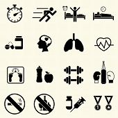 Medical and Hospital icons with texture background.