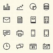 Business and Finance icon sets. Line icons.