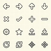 Simple Web icon sets. Line icons.