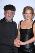 Steven Spielberg and Drew Barrymore at the Los Angeles Premiere of 'Whip It'. Grauman's Chinese Thea