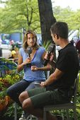 Former World No. 1 Amelie Mauresmo during interview with Eurosport at US Open 2013