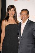 Lu Parker and Mayor Antonio Villaraigosa  at the 2009 Lint Roller Party. Hollywood Palladium, Hollywood, CA. 10-03-09