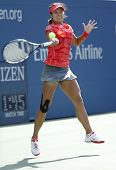 Grand Slam champion Na Li during quarterfinal match at US Open 2013 against Ekaterina Makarova