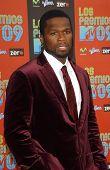 50 Cent at Los Premios MTV 2009. Gibson Amphitheatre, Universal City, CA. 10-15-09