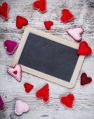 Handmade Felt Hearts