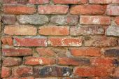 Old Brick Wall Background Horizontal