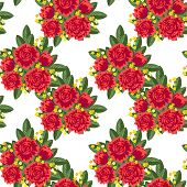 Seamless Red Bouquets