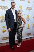 LOS ANGELES - JUN 26:  Brian Fuller, Kristin Chenoweth at the 40th Saturn Awards at the The Castaway