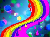 Rainbow Spots Background Means Painted And Dotted .