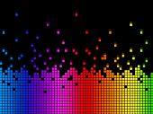 Rainbow Soundwaves Background Means Musical Playing Or Dj.