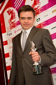 MOSCOW - JUNE, 28: Polish director Jan Matuszynski (Winner best documentary Film). 36st Moscow Inter
