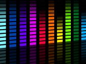 Colorful Soundwaves Background Means Frequencies Music And Party.