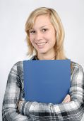Teenager With Blue Folder
