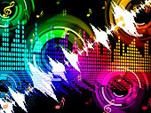 Sound Wave Background Shows Beats Spectrum Technology.