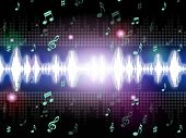 Soundwaves Background Mean Music Singing And Melodies.