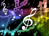 Music Background Means Musical Piece And Harmony.