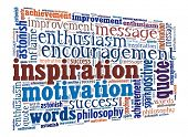 Inspiration in word collage