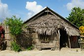 Panama, Traditional House Of Residents Of The San Blas Archipelago