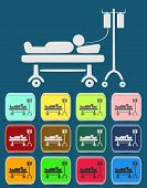 Illustration of Life icons, hospitalized