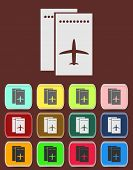 Airfare icon Illustration