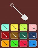 Shovel - Vector icon with color variations